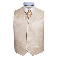 Buy John Lewis Heirloom Collection Boys' Waistcoat & Cravat Set, Gold Online at johnlewis.com