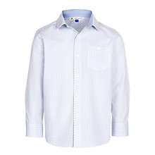 Buy John Lewis Heirloom Collection Boys' Mini Diamond Print Shirt, White/Blue Online at johnlewis.com