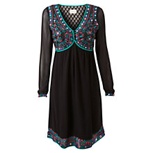 Buy East Baba Embroidered Dress, Black Online at johnlewis.com