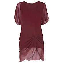 Buy Phase Eight Charley Silk Blouse, Bordeaux Online at johnlewis.com