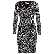 Buy Damsel in a dress Printed Illusion Dress, Black Online at johnlewis.com