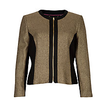 Buy Ted Baker Nottie Sparkle Jacket, Gold Online at johnlewis.com