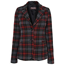 Buy Phase Eight Fife Tartan Jacket, Grey/Red Online at johnlewis.com