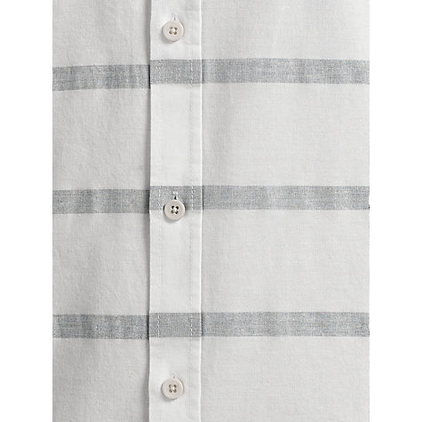 Buy Selected Homme Byron Stripe Long Sleeve Shirt, Off White Online at johnlewis.com