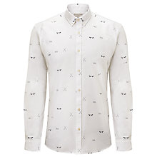 Buy Selected Rower Collection Print Long Sleeve Shirt, White Online at johnlewis.com