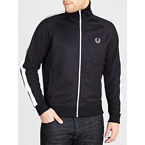 Buy Fred Perry Track Jacket, Navy Online at johnlewis.com