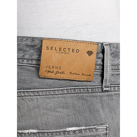 Buy Selected Homme Indigo Two Rico 1331 Slim Tapered Jeans, Grey Online at johnlewis.com