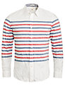 Dockers Breton Stripe Long Sleeve Shirt, Chalk