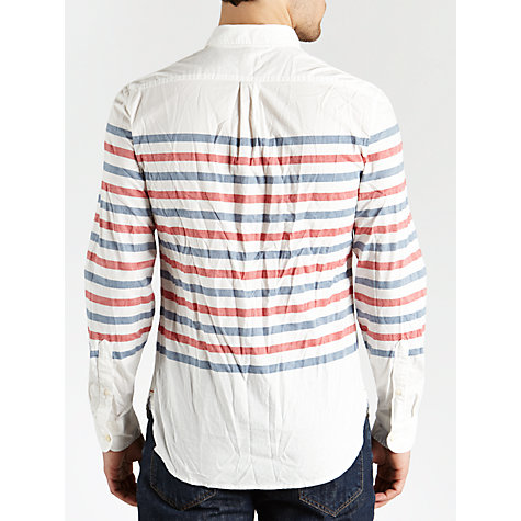 Buy Dockers Breton Stripe Long Sleeve Shirt, Chalk Online at johnlewis.com