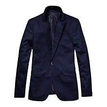 Buy Scotch & Soda High Density Cotton Blazer, Navy Online at johnlewis.com