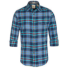 Buy Dockers Wrinkle Check Shirt, Medieval Blue Online at johnlewis.com