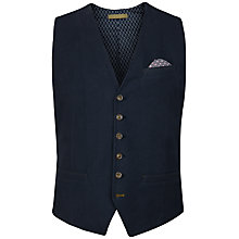 Buy Ted Baker Bixtru Jersey Textured Waistcoat, Navy Online at johnlewis.com