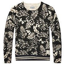 Buy Scotch & Soda Printed Structured Mono Jumper, Black Online at johnlewis.com