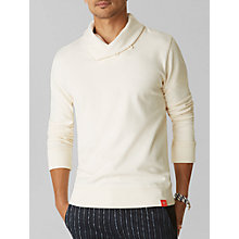 Buy Dockers Henley Long Sleeve Jersey Top, Cream Online at johnlewis.com