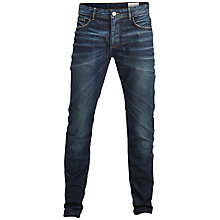 Buy Selected Homme Indigo Two 8149 Slim Tapered Jeans, Dark Blue Denim Online at johnlewis.com