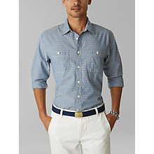 Buy Dockers Print Chambray Shirt, Blue Shadow Online at johnlewis.com