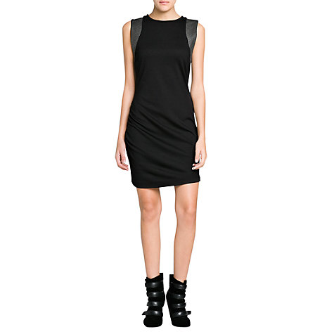 Buy Mango Studded Fitted Dress, Black Online at johnlewis.com