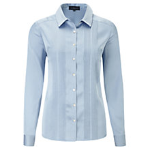 Buy Viyella Satin Pintuck Blouse, Blue Online at johnlewis.com
