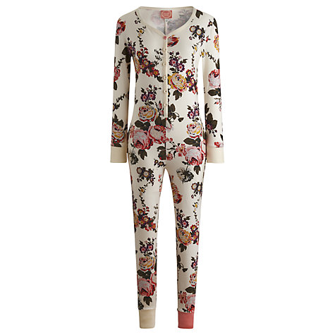 Buy Joules Puck Painterly Floral Onesie, Multi Online at johnlewis.com
