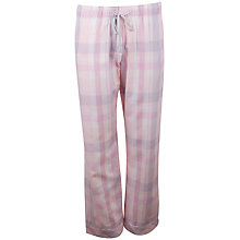 Buy Cyberjammies Sophie Check Pyjama Pants, Pink / Blue Online at johnlewis.com