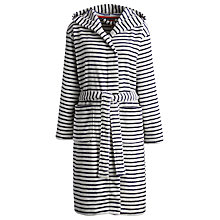 Buy Joules Rita Check Robe, White / Blue Online at johnlewis.com
