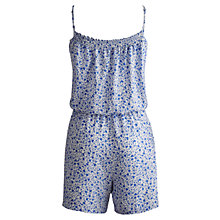 Buy Joules Hersie Onesie Playsuit, Blue Online at johnlewis.com