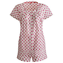 Buy Joules Jemima Floral Pyjama Set, Pink Online at johnlewis.com