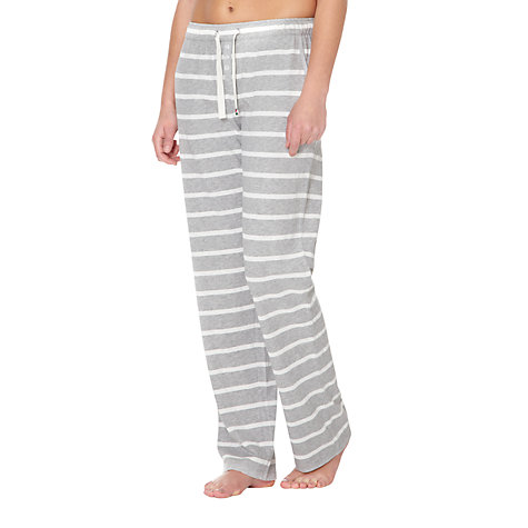 Buy Rampant Sporting Jersey Pyjama Pants, Grey Stripe Online at johnlewis.com