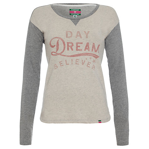 Buy Rampant Sporting Daydream Believer Jersey Top, Grey Marl Online at johnlewis.com