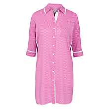 Buy DKNY Buttoned Up Sleepshirt, Pink Geo Online at johnlewis.com