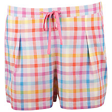 Buy Cyberjammies Bern Check Shorts, Coral / Blue Online at johnlewis.com