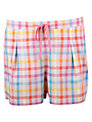 Cyberjammies Bern Check Shorts, Coral / Blue