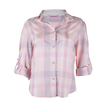 Buy Cyberjammies Sophie Check Top, Pink / Blue Online at johnlewis.com