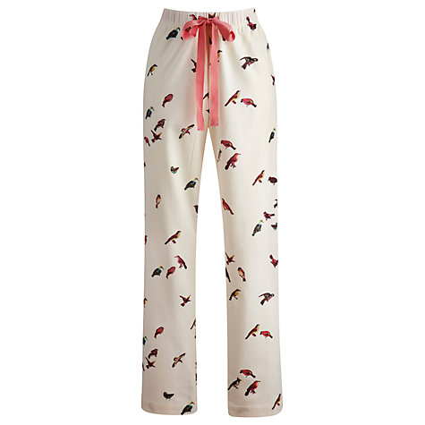 Buy Joules Fleur Pyjama Pants, Cream Online at johnlewis.com