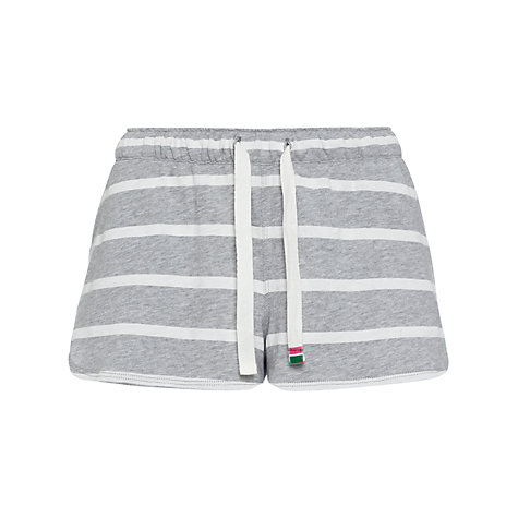 Buy Rampant Sporting Jersey Pyjama Shorts, Grey Stripe Online at johnlewis.com