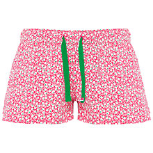 Buy Rampant Sporting Floral Jersey Pyjama Shorts, Pink Multi Online at johnlewis.com