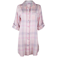 Buy Cyberjammies Sophie Check Nightshirt, Pink / Blue Online at johnlewis.com