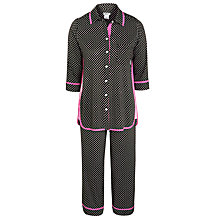 Buy DKNY Buttoned Up Pyjama Set, Black Geo Online at johnlewis.com