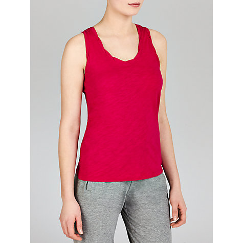 Buy John Lewis Slub Vest, Pink Online at johnlewis.com