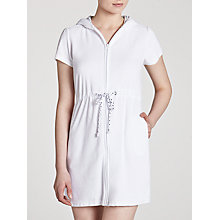 Buy John Lewis Zip Toweling Cover Up Dress, White Online at johnlewis.com