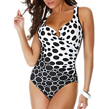 Buy Miraclesuit Escape Social Circles Shaping Swimsuit, Black / White Online at johnlewis.com