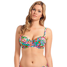 Buy Freya Dreamer Underwired Bikini Top, Blue / Multi Online at johnlewis.com
