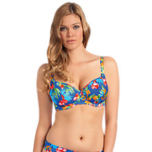 Buy Freya Acapulco Underwired Padded Bikini Top, Blue / Multi Online at johnlewis.com