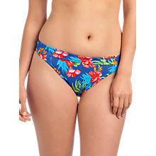 Buy Freya Acapulco Fold Bikini Briefs, Blue / Multi Online at johnlewis.com
