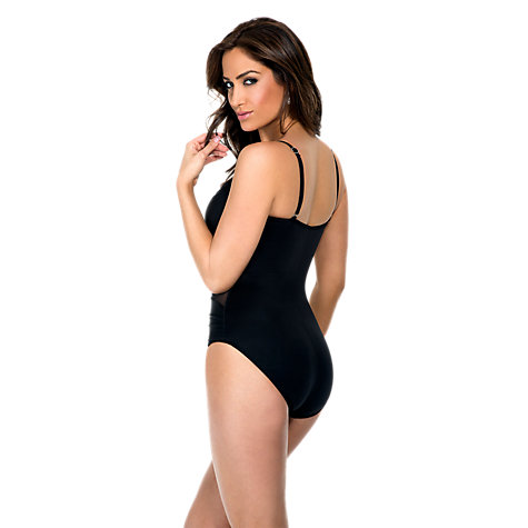 Buy Miraclesuit Mystify Underwired Shaping Swimsuit, Black Online at johnlewis.com