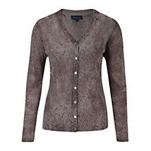Buy Viyella Python Printed Cardigan, Birch Online at johnlewis.com