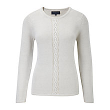 Buy Viyella Natural Lurex Cable Jumper, Natural Online at johnlewis.com