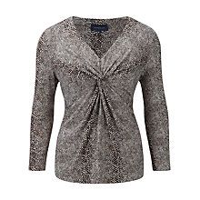 Buy Viyella Snake Print Jersey Top, Espresso Online at johnlewis.com