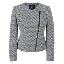 Buy Viyella Tweed Biker Jacket, Black/Ivory Online at johnlewis.com