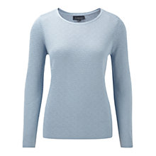 Buy Viyella Jacquard Lurex Jumper, Water Online at johnlewis.com